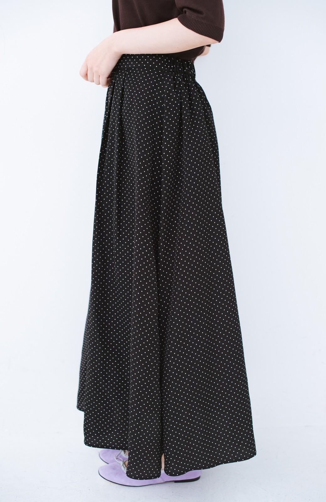 haco! ずっと着られる大人のドットロングスカート by que made me <ブラック系その他>の商品写真2