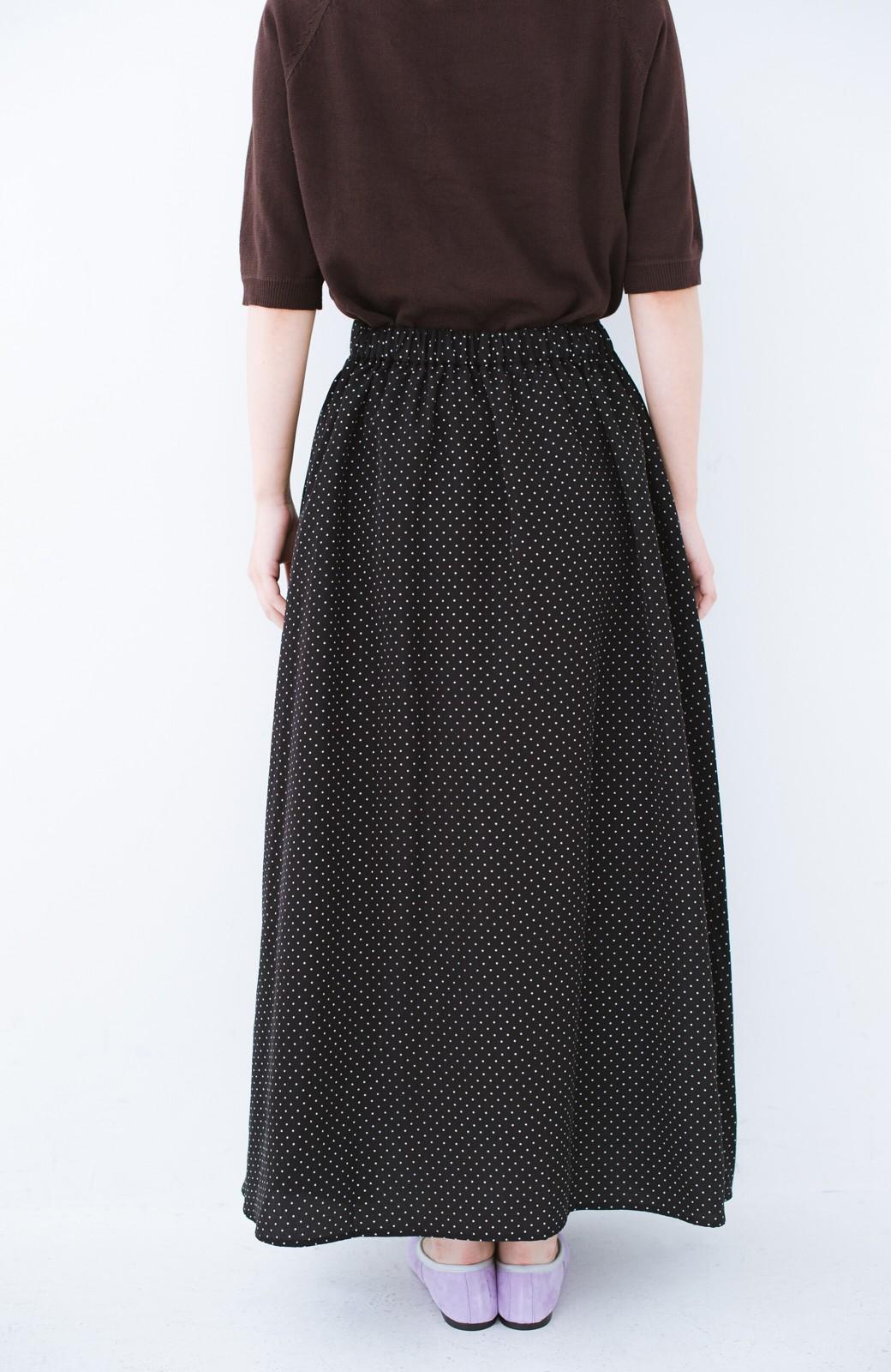 haco! ずっと着られる大人のドットロングスカート by que made me <ブラック系その他>の商品写真3