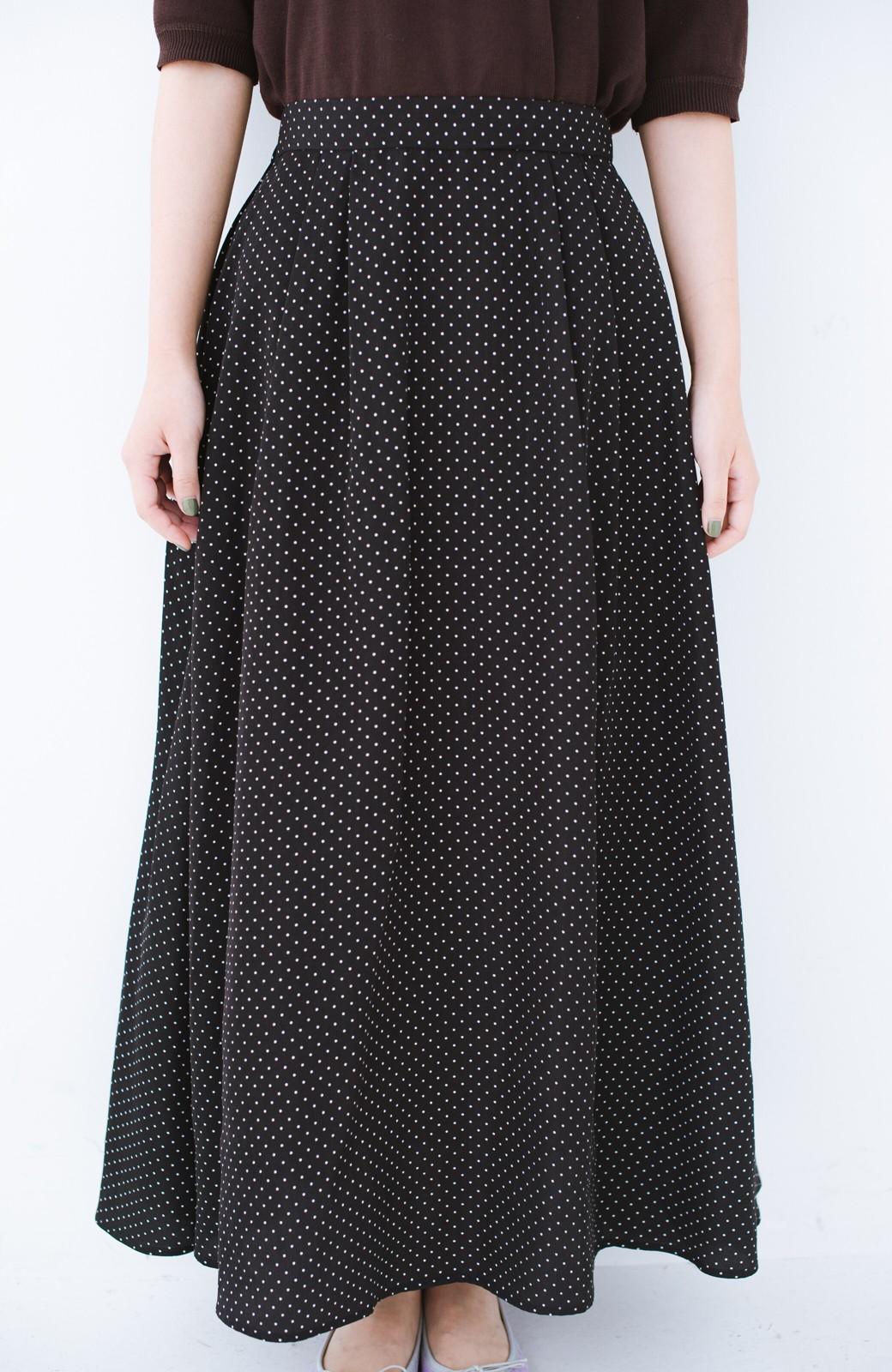 haco! ずっと着られる大人のドットロングスカート by que made me <ブラック系その他>の商品写真4