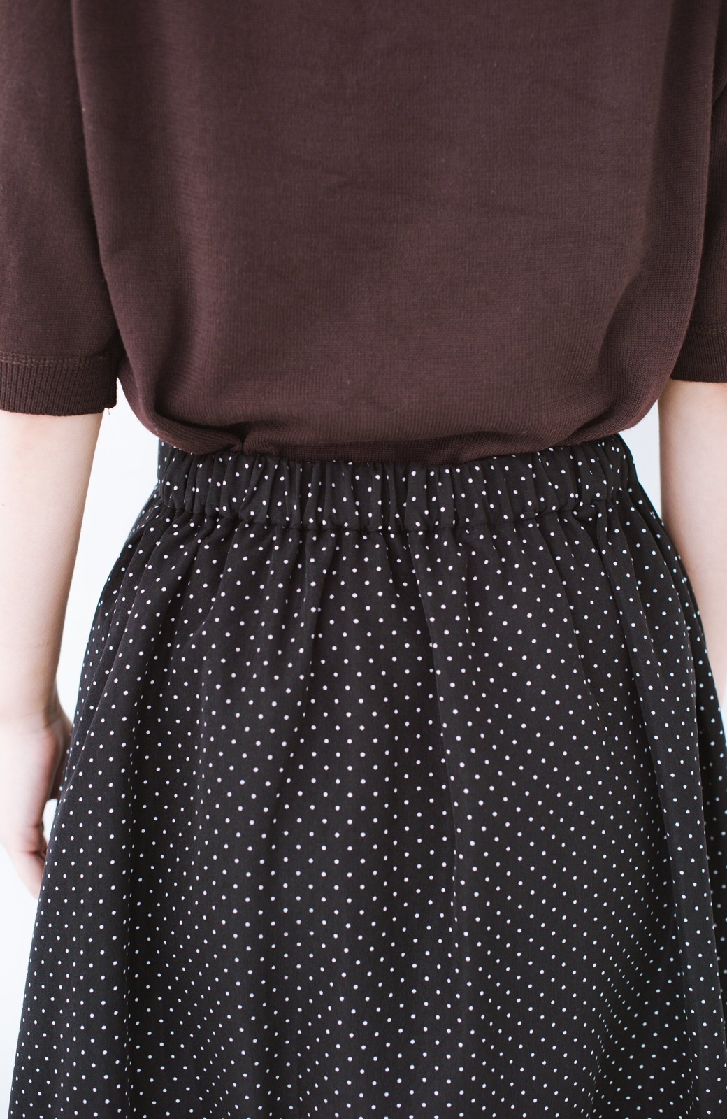 haco! ずっと着られる大人のドットロングスカート by que made me <ブラック系その他>の商品写真5