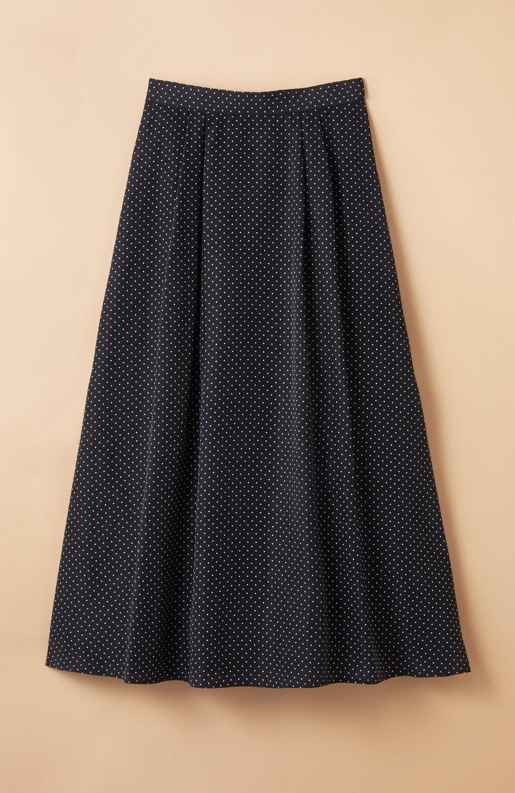 haco! ずっと着られる大人のドットロングスカート by que made me <ブラック系その他>の商品写真1