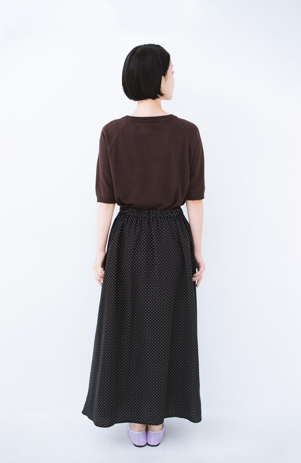 haco! ずっと着られる大人のドットロングスカート by que made me <ブラック系その他>の商品写真10
