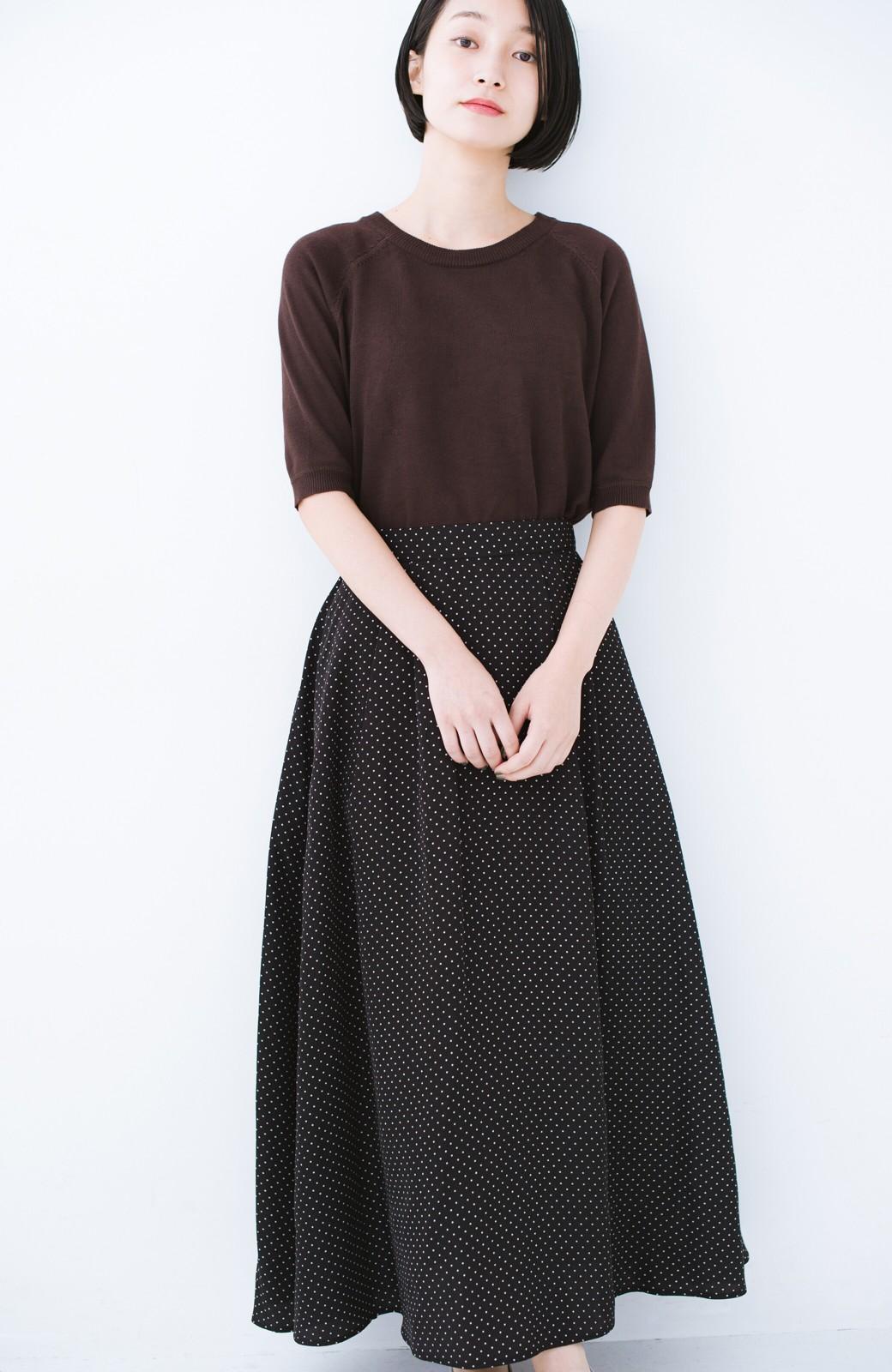 haco! ずっと着られる大人のドットロングスカート by que made me <ブラック系その他>の商品写真12