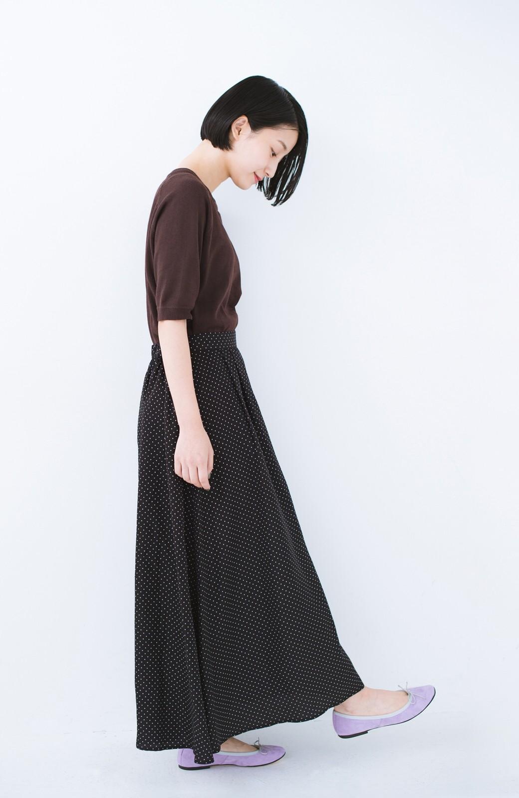 haco! ずっと着られる大人のドットロングスカート by que made me <ブラック系その他>の商品写真9