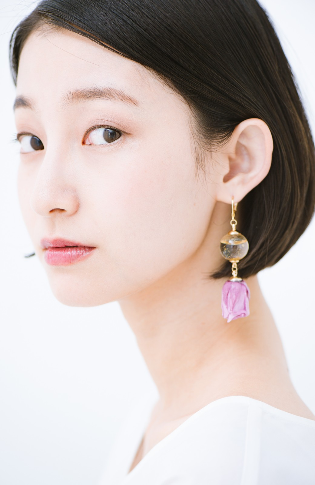 haco! てとひとて KANA MATSUNAMI  <GARDEN SERIES> 薔薇の蕾ピアス <パープル>の商品写真6