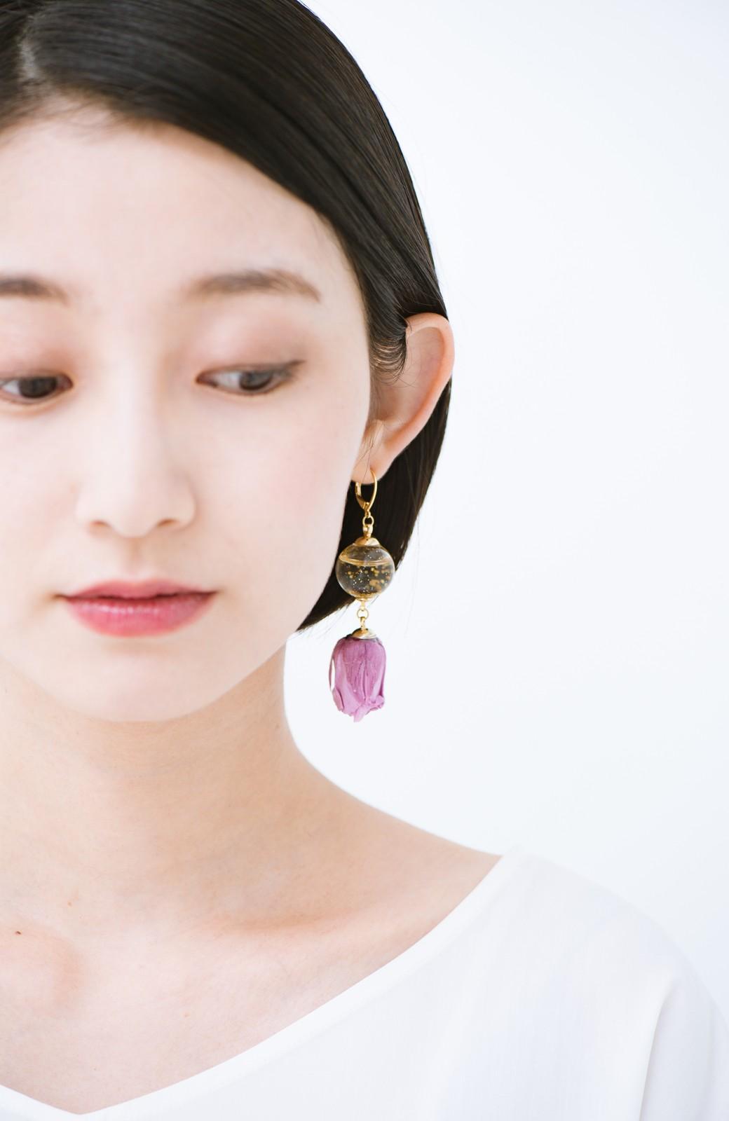 haco! てとひとて KANA MATSUNAMI  <GARDEN SERIES> 薔薇の蕾ピアス <パープル>の商品写真7