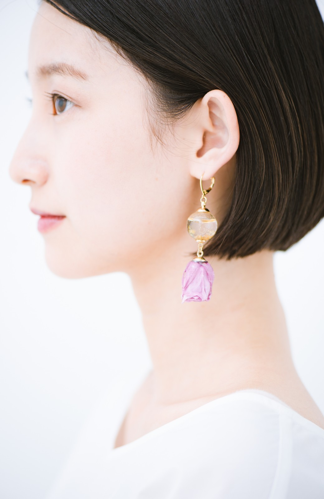 haco! てとひとて KANA MATSUNAMI  <GARDEN SERIES> 薔薇の蕾ピアス <パープル>の商品写真8