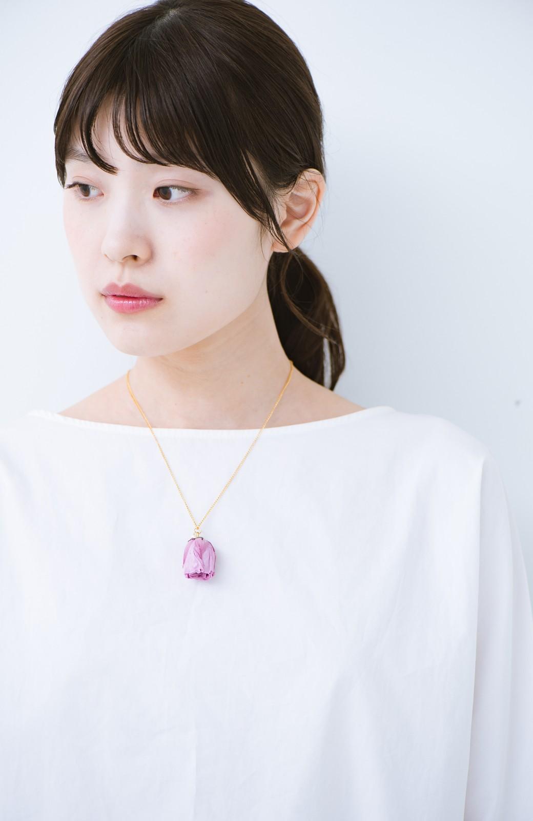 haco! てとひとて KANA MATSUNAMI  <GARDEN SERIES> 薔薇の蕾ペンダント <パープル>の商品写真6