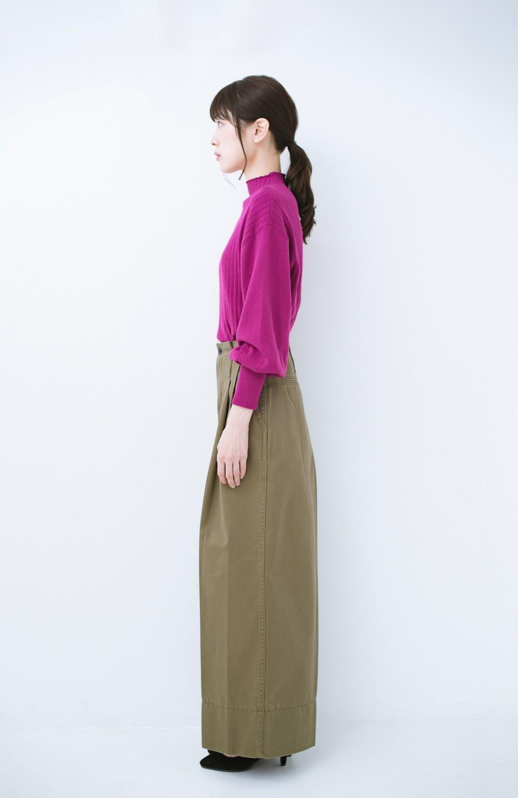 haco! Lady Lee リメイクデザインのワークトラウザーパンツ <オリーブ>の商品写真8