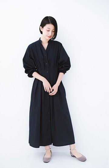 haco! パッと着るだけでスタイル完成!便利な今っぽ女っぽワンピース <ネイビー>の商品写真