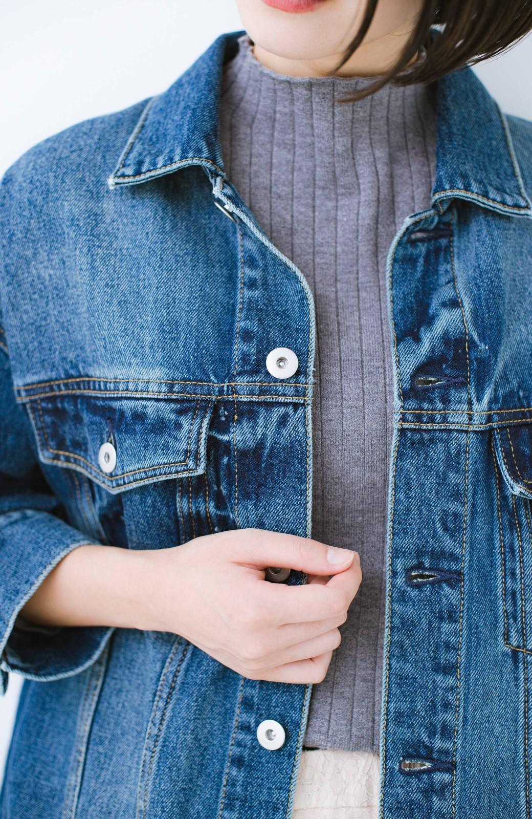 haco! こなれたシルエットがかなうオトナも着やすい大きめGジャン by MAKORI <インディゴブルー>の商品写真6