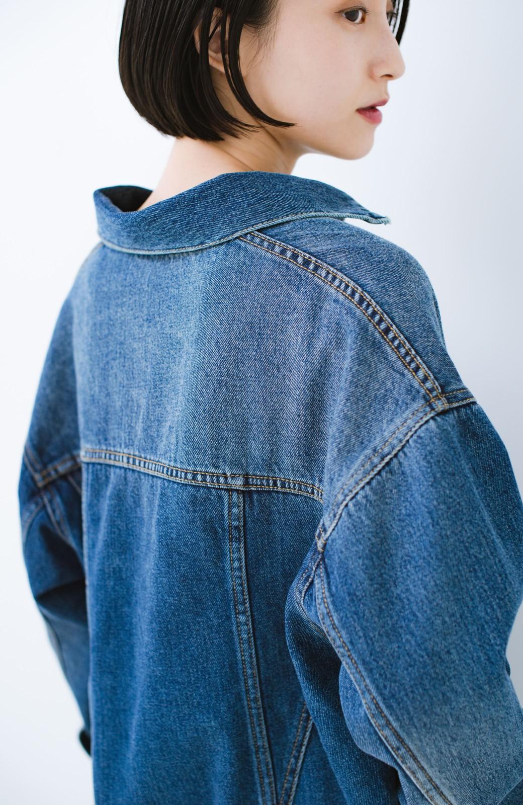 haco! こなれたシルエットがかなうオトナも着やすい大きめGジャン by MAKORI <インディゴブルー>の商品写真7