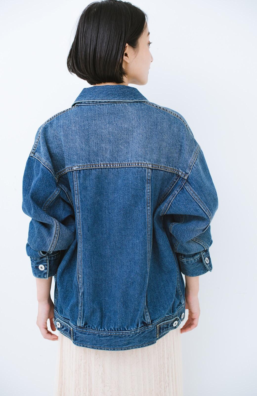 haco! こなれたシルエットがかなうオトナも着やすい大きめGジャン by MAKORI <インディゴブルー>の商品写真21