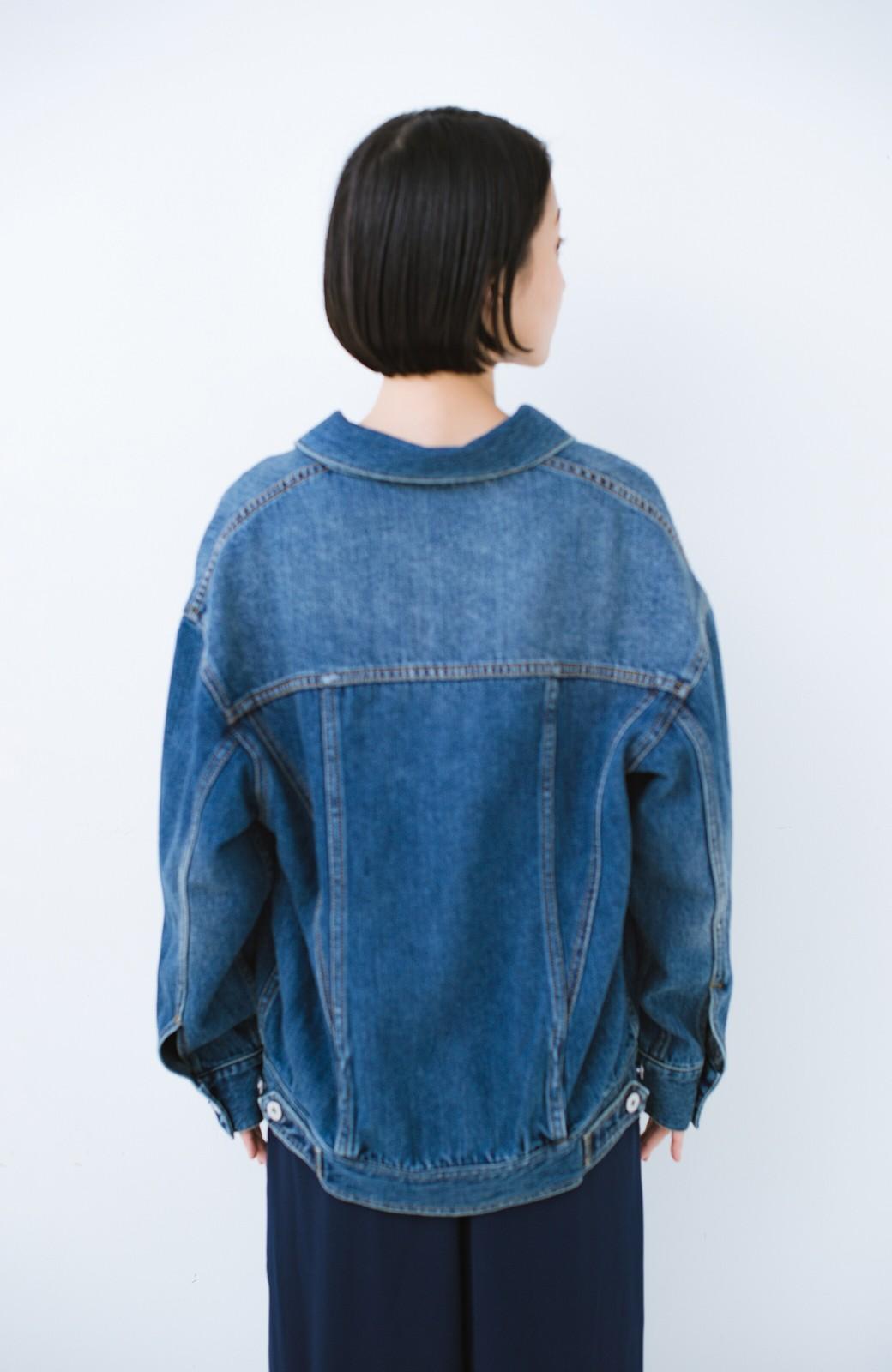 haco! こなれたシルエットがかなうオトナも着やすい大きめGジャン by MAKORI <インディゴブルー>の商品写真23