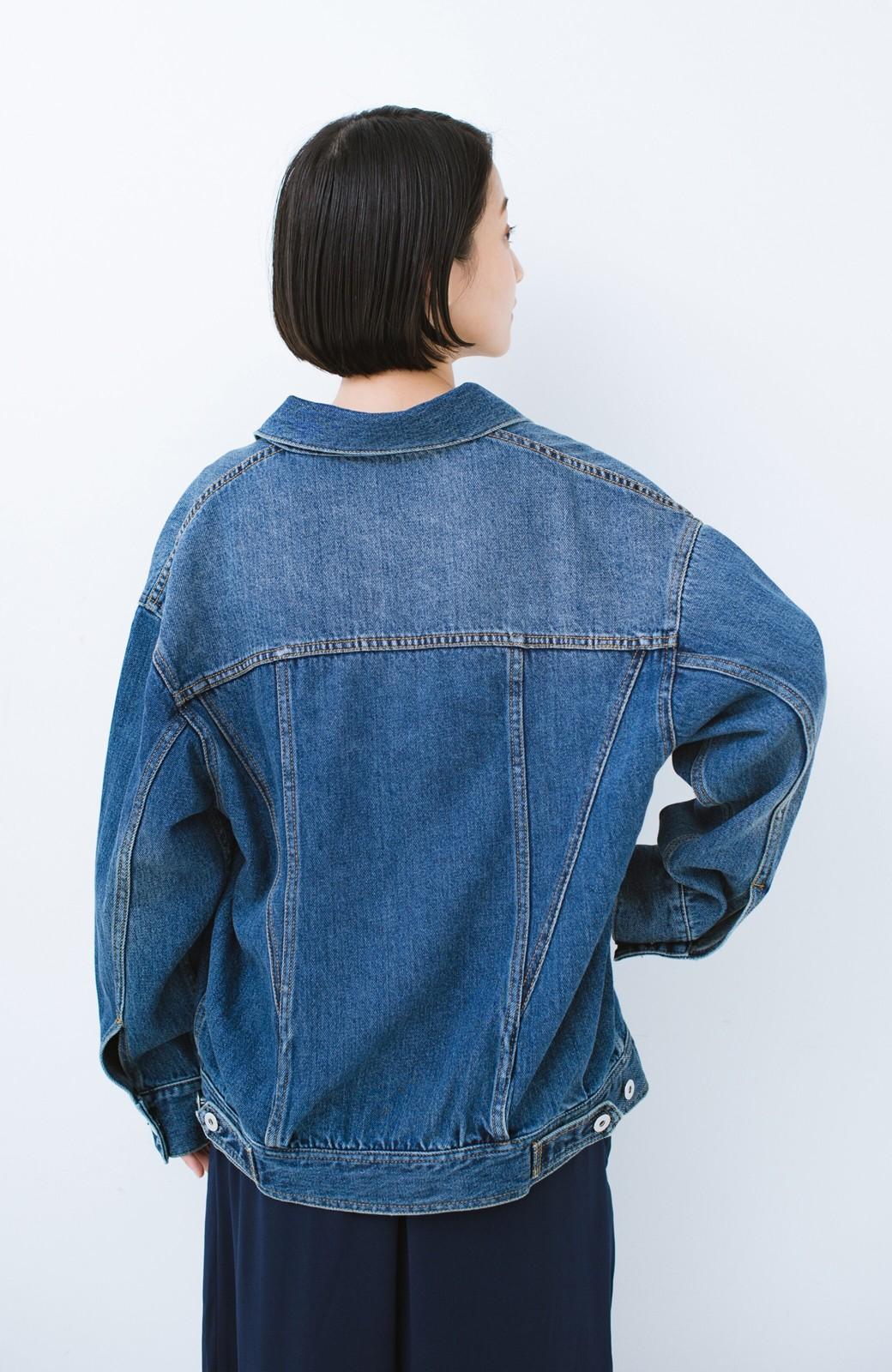 haco! こなれたシルエットがかなうオトナも着やすい大きめGジャン by MAKORI <インディゴブルー>の商品写真24