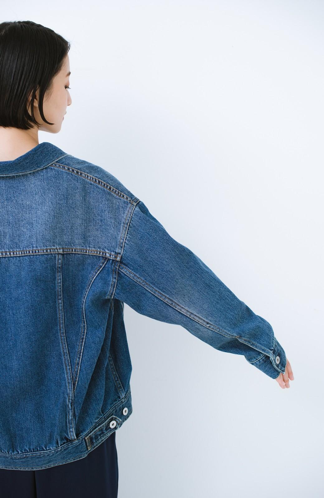 haco! こなれたシルエットがかなうオトナも着やすい大きめGジャン by MAKORI <インディゴブルー>の商品写真25