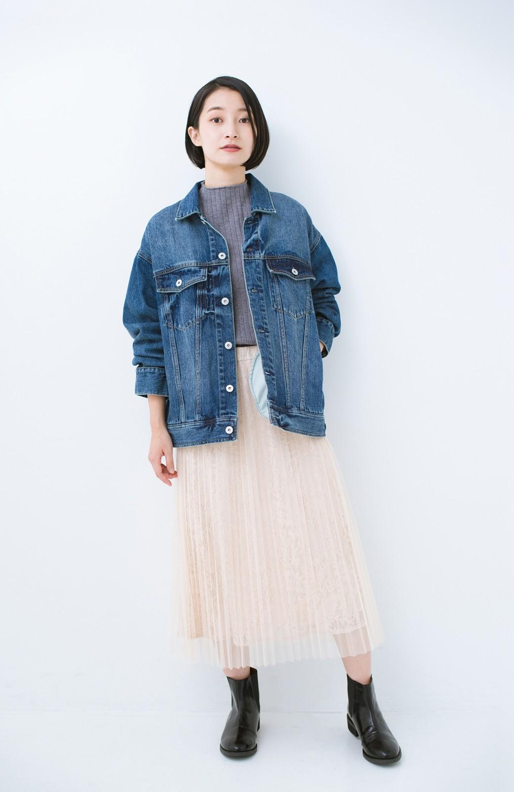 haco! こなれたシルエットがかなうオトナも着やすい大きめGジャン by MAKORI <インディゴブルー>の商品写真13