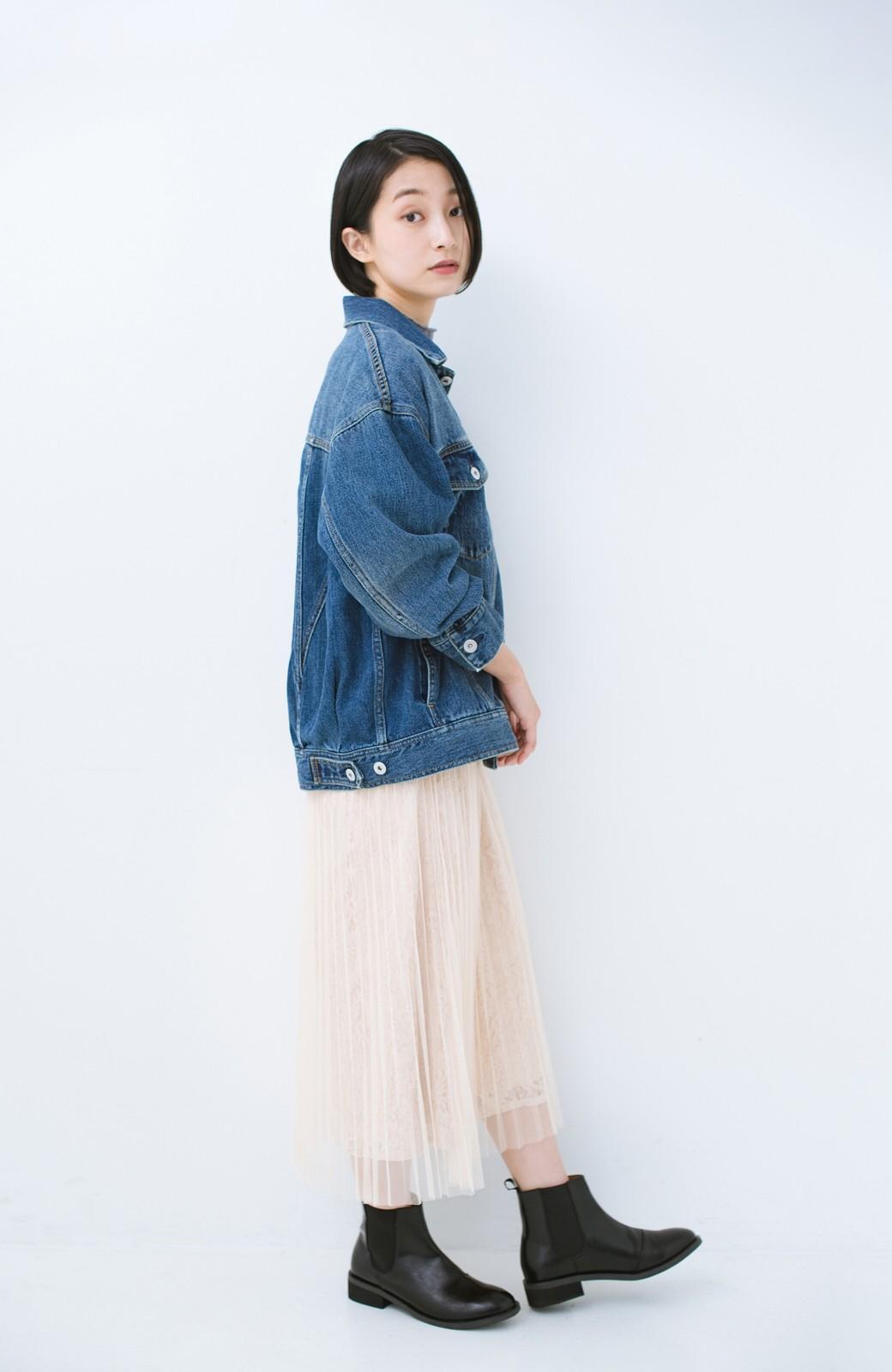 haco! こなれたシルエットがかなうオトナも着やすい大きめGジャン by MAKORI <インディゴブルー>の商品写真16