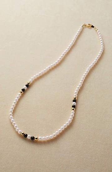 haco! 小さなプラパールの大人っぽネックレス <ホワイト>の商品写真