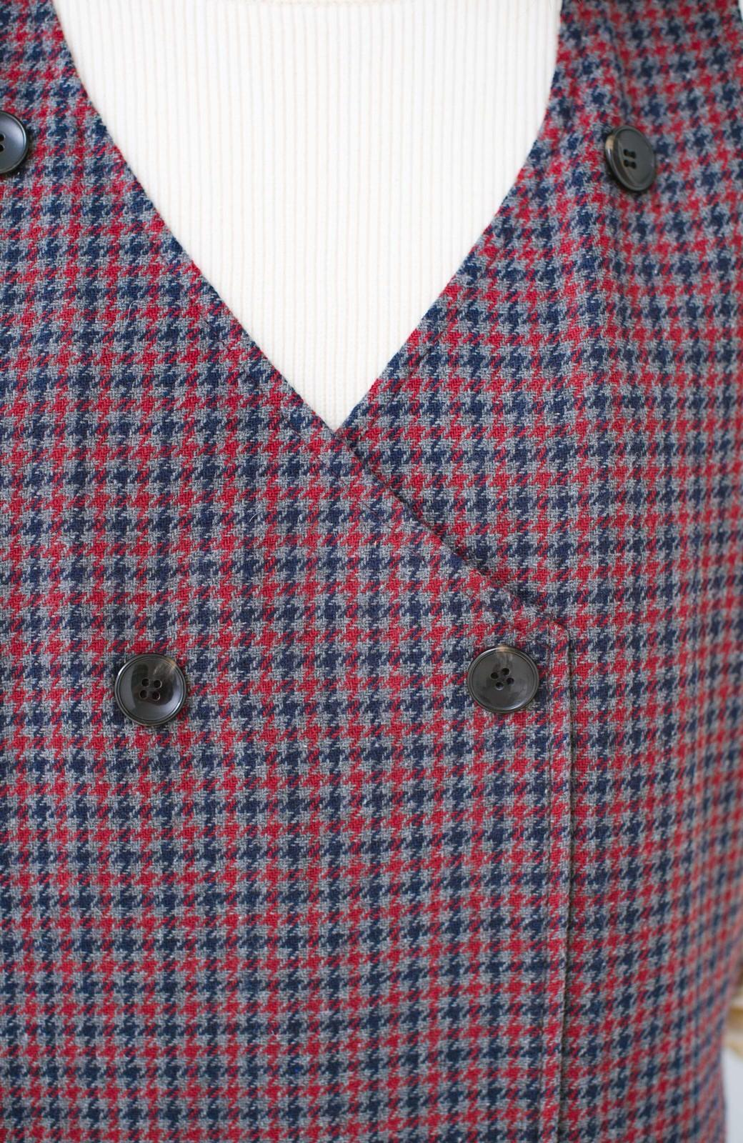 haco! すぽっと着るだけで旬顔完成 千鳥柄のジャンパースカート <レッド系その他>の商品写真6