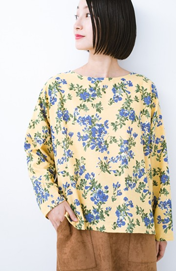 haco! LITTLE MARKET 花柄ロングスリーブプルオーバー <イエロー>の商品写真