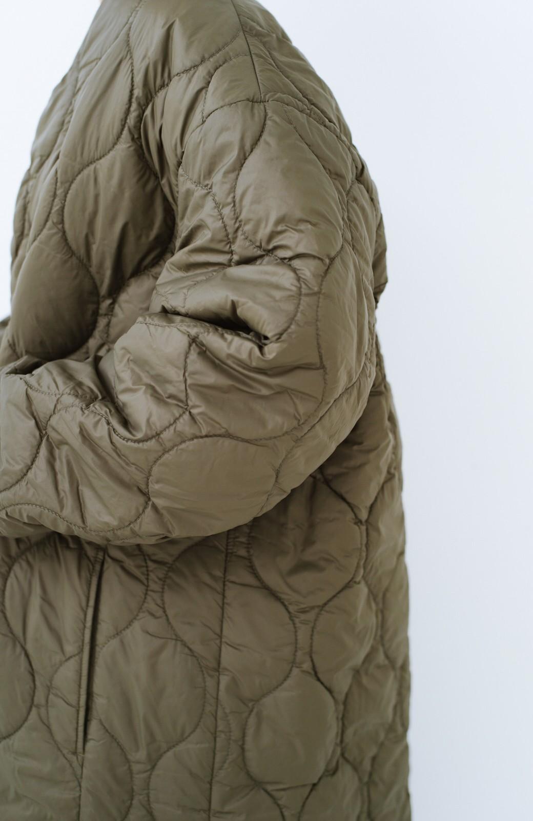 haco! 軽くてあったか!重ね着次第で長--く着られる キルティングジャケット <カーキ>の商品写真5