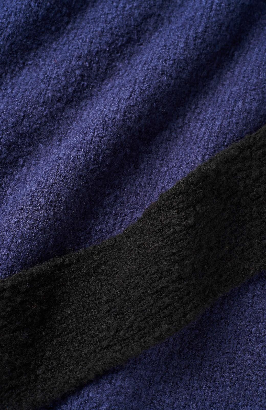 haco! <高橋愛さんコラボ>ラブ&ピースプロジェクト 配色ベルトのタートルニットロングワンピース <パープル>の商品写真12