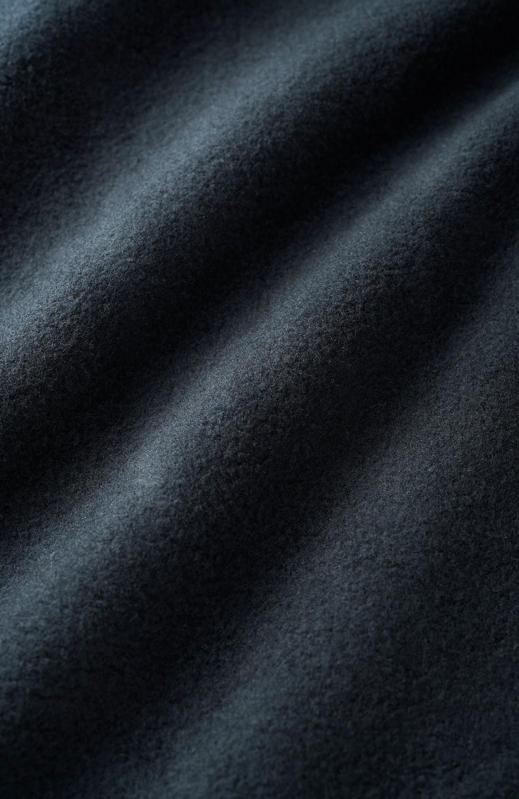 haco! <高橋愛さんコラボ>ラブ&ピースプロジェクト フロントジップの裏毛起毛パーカー(メンズ) <ブラック>の商品写真3