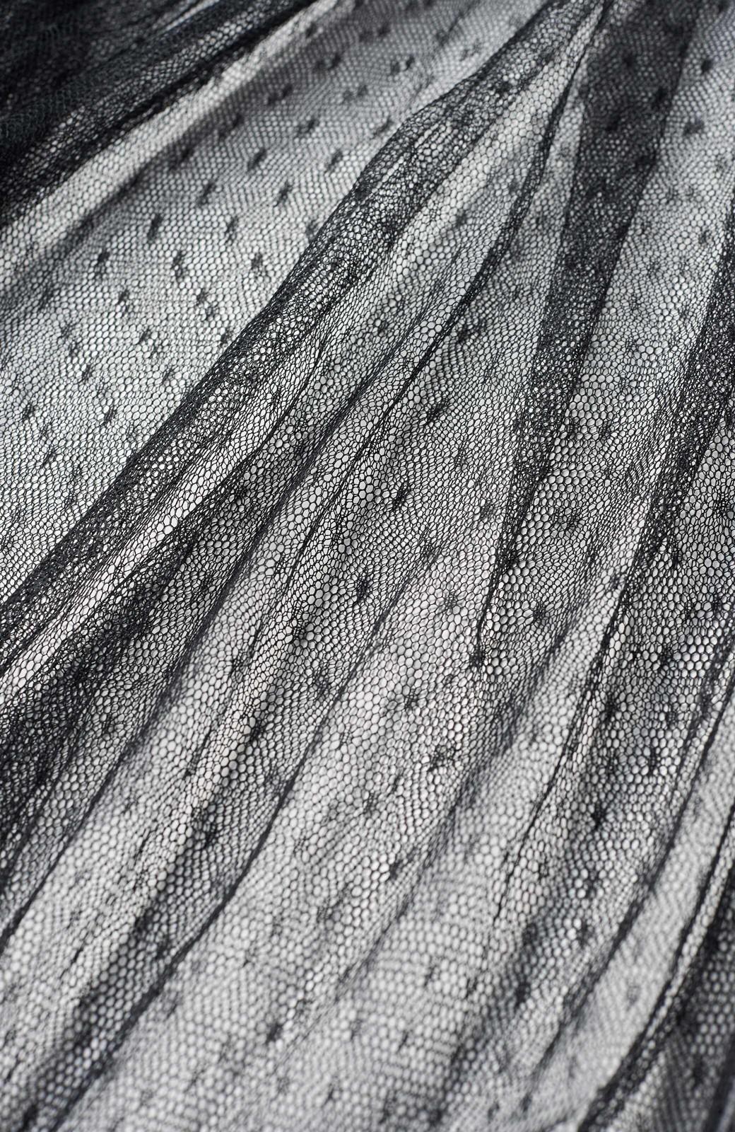 haco! <スザンヌさんコラボ>ラブ&ピースプロジェクト ドットチュールキャミワンピース&ボリュームスウェットトップスセット <杢グレー>の商品写真7