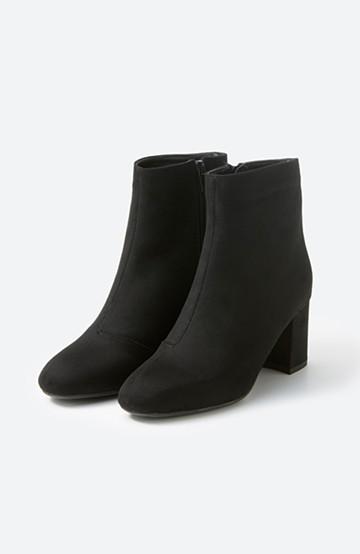 haco! パッと履いてスッときれいな女っぽブーツ <ブラック>の商品写真