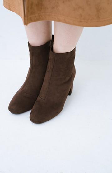 haco! パッと履いてスッときれいな女っぽブーツ <ブラウン>の商品写真