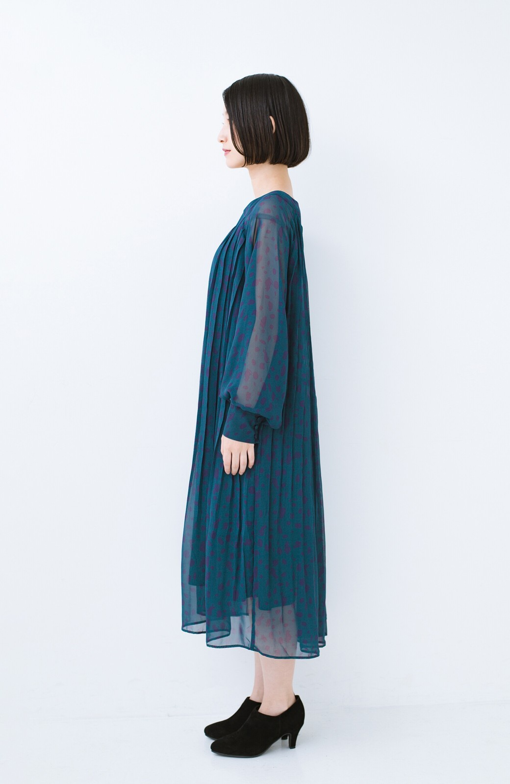 haco! パンツにもスカートにも便利な女っぽブーティー <ブラック>の商品写真12