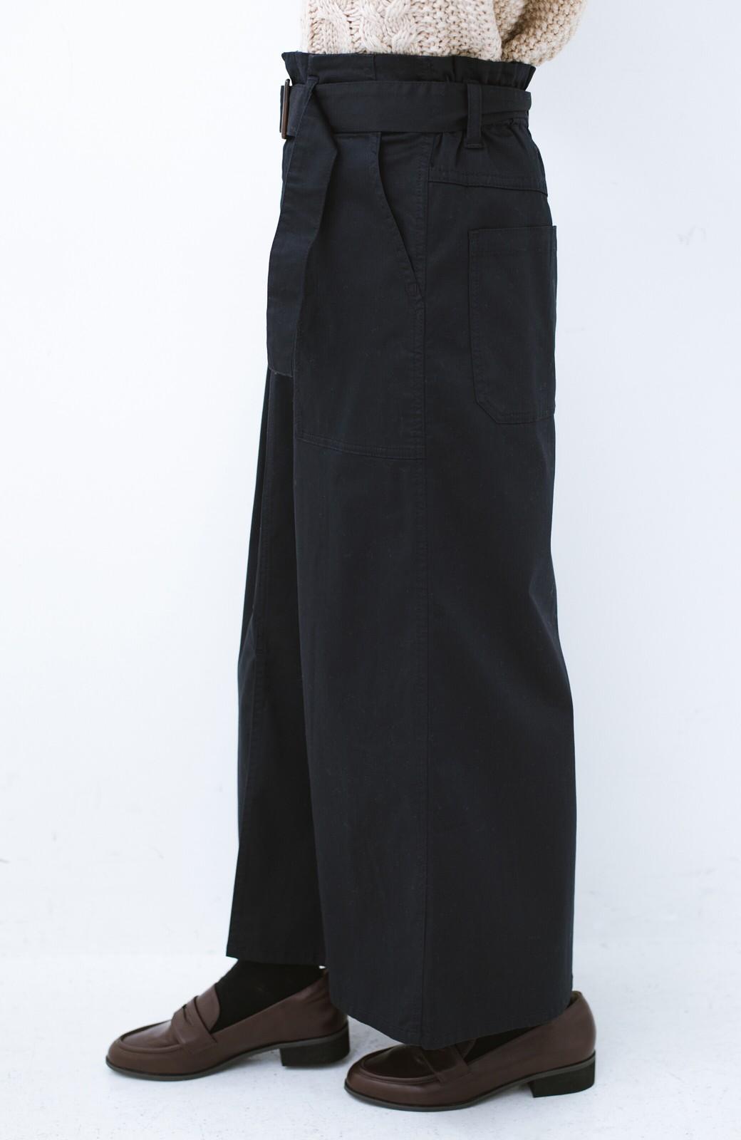 haco! ちょうどいい女っぽ感 下半身をすらっと見せるスリットロングスカート <ネイビー>の商品写真3