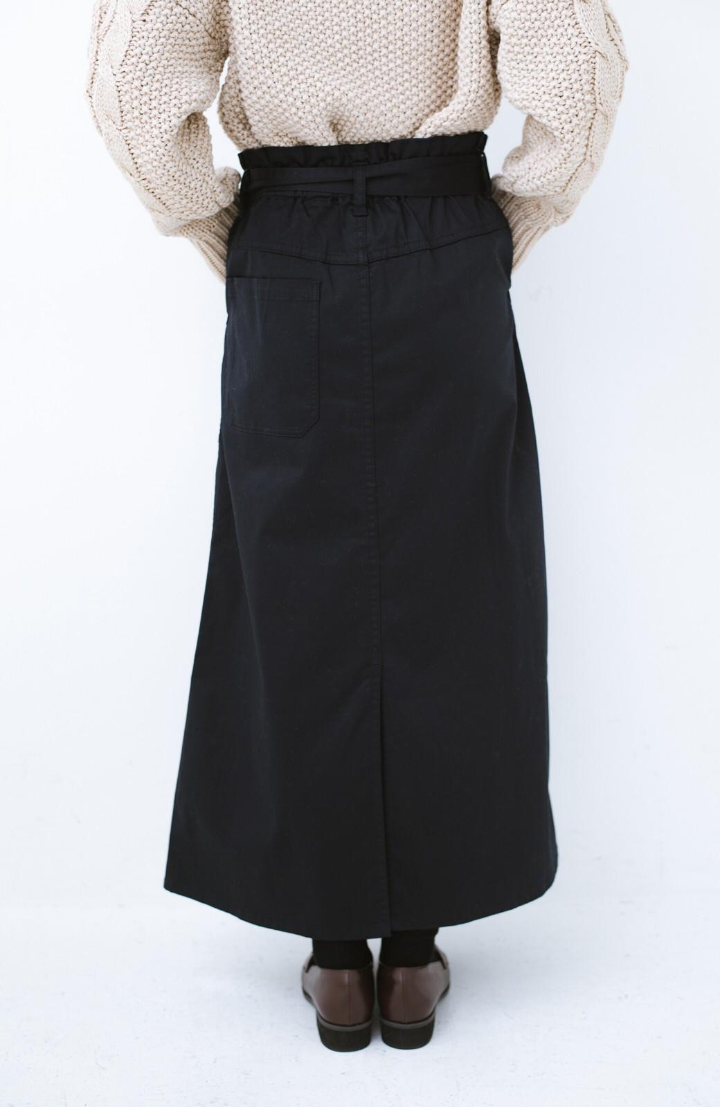 haco! ちょうどいい女っぽ感 下半身をすらっと見せるスリットロングスカート <ネイビー>の商品写真4