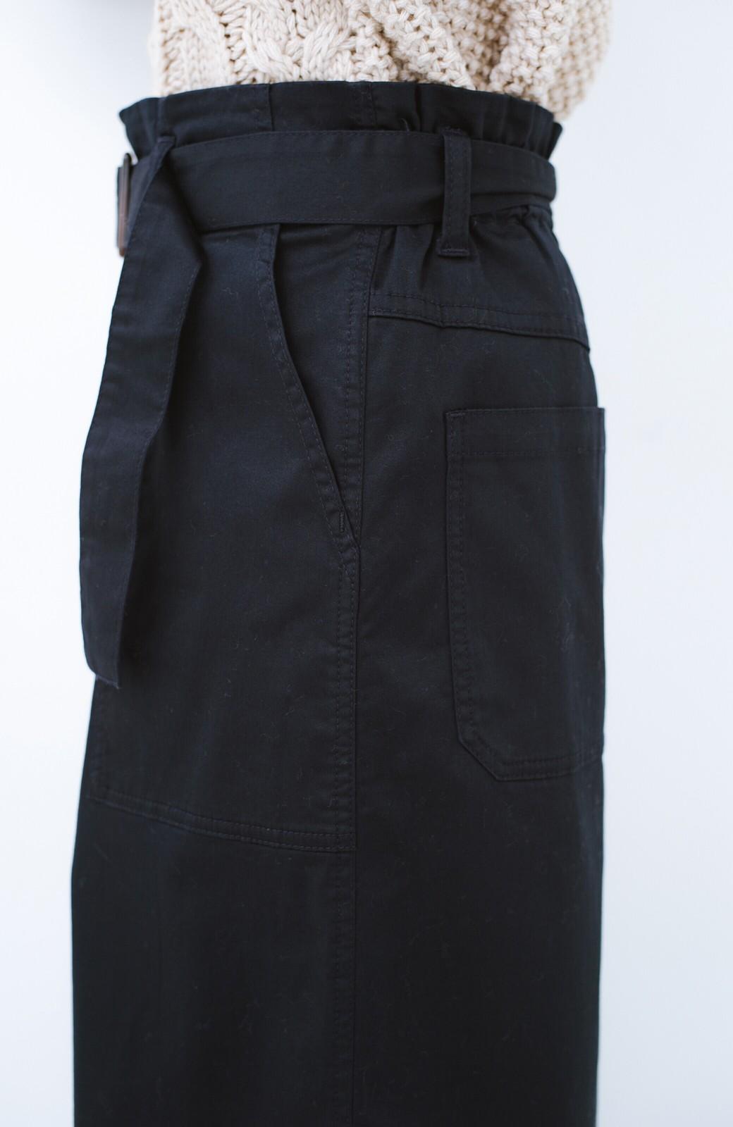 haco! ちょうどいい女っぽ感 下半身をすらっと見せるスリットロングスカート <ネイビー>の商品写真6