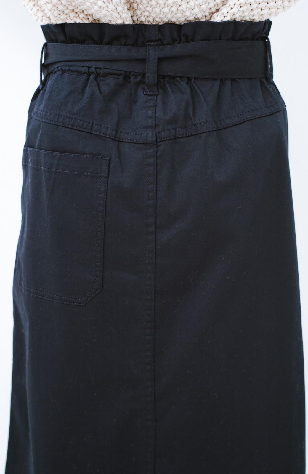 haco! ちょうどいい女っぽ感 下半身をすらっと見せるスリットロングスカート <ネイビー>の商品写真7