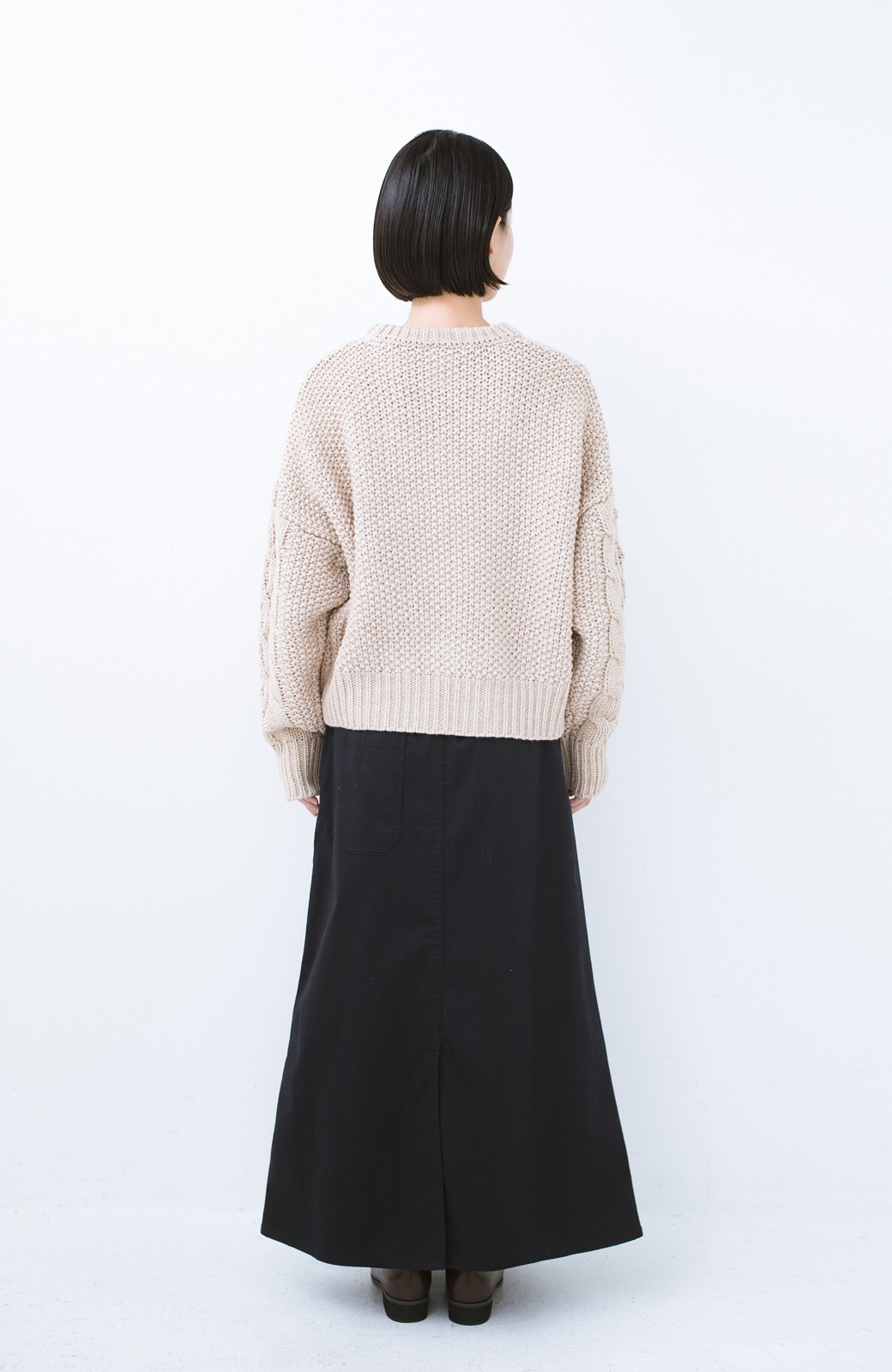 haco! ちょうどいい女っぽ感 下半身をすらっと見せるスリットロングスカート <ネイビー>の商品写真13