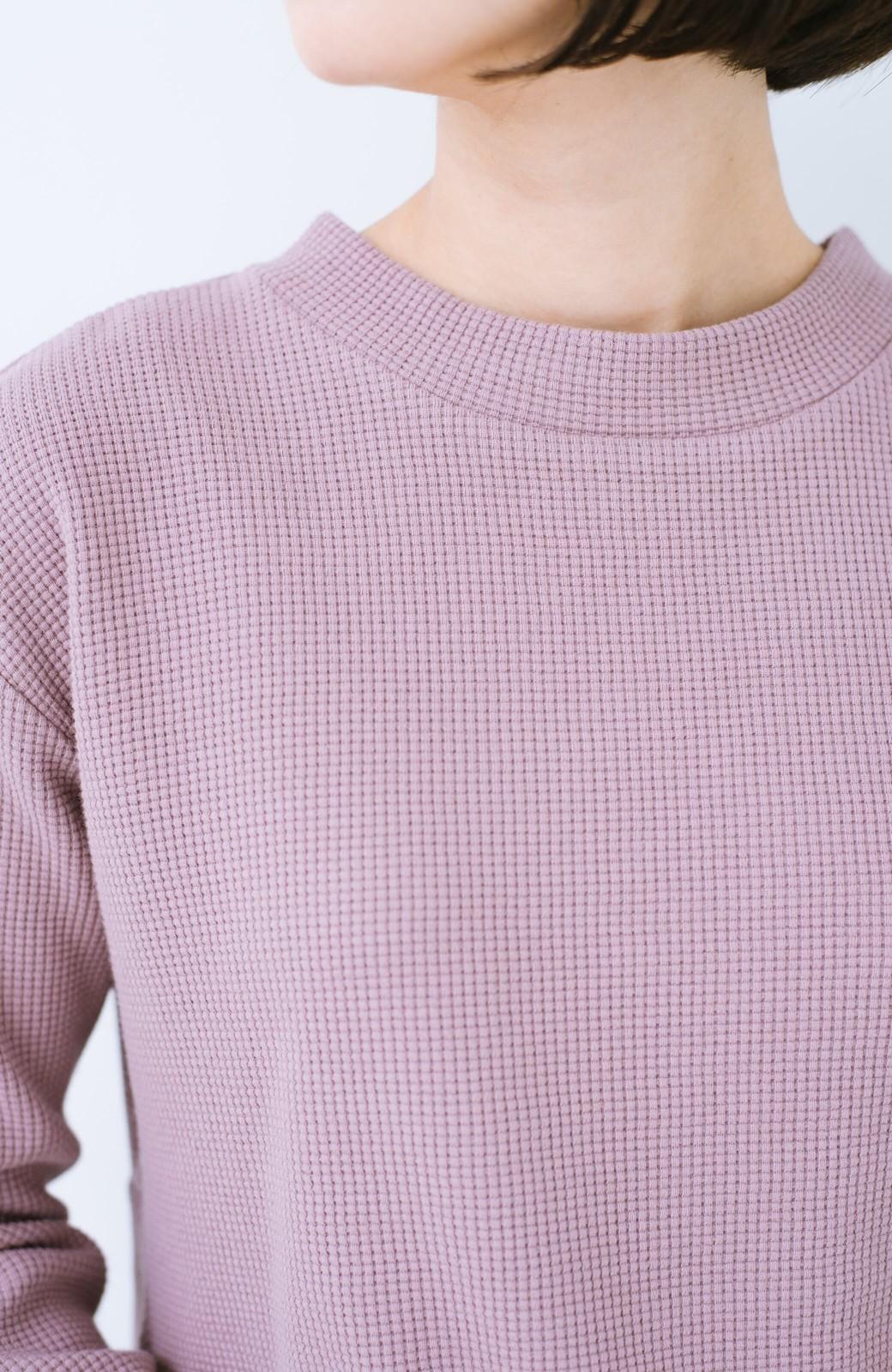 haco! 大人のかわいげをちりばめたフレアーカットソー  <ピンク>の商品写真5