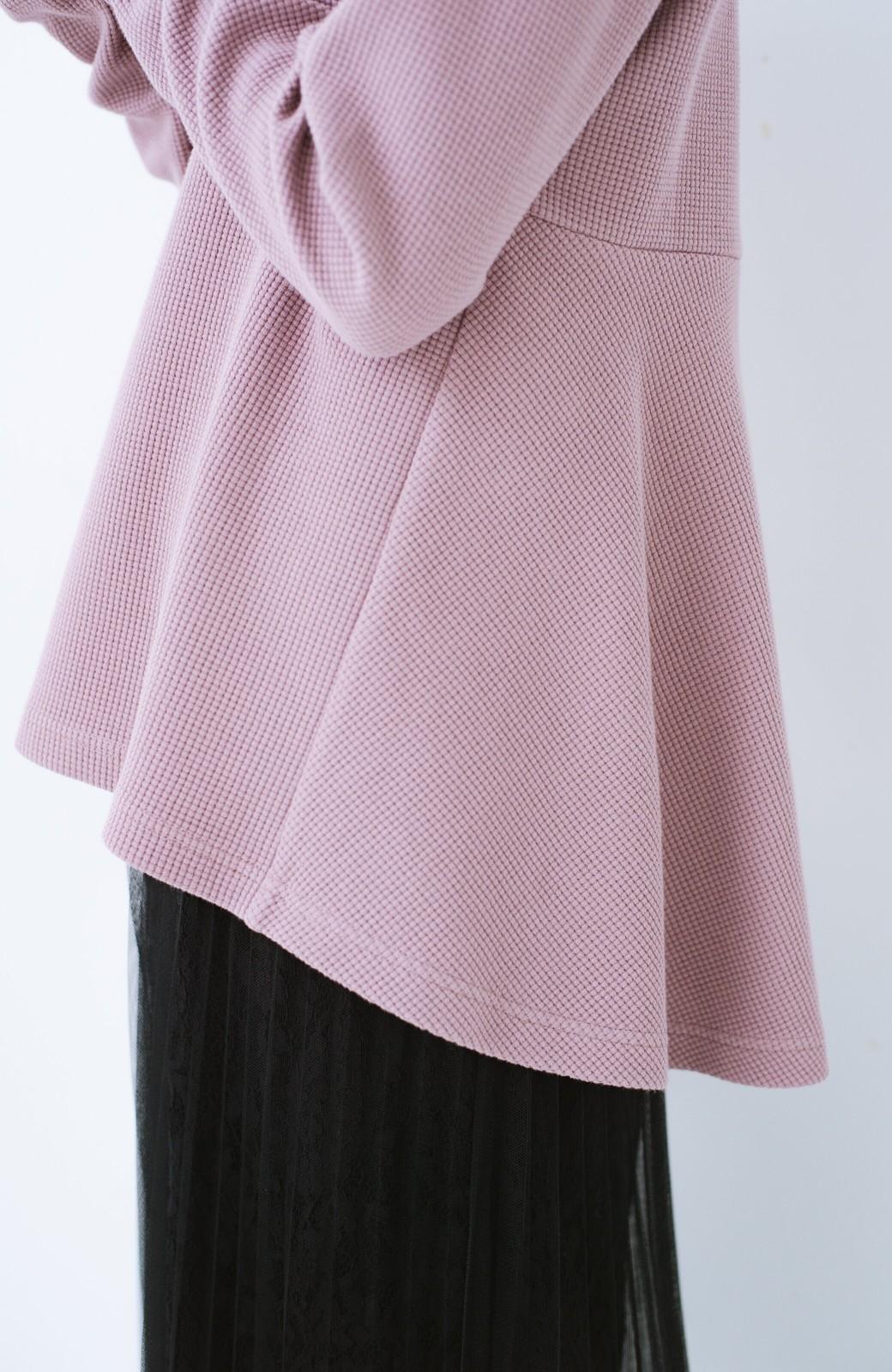 haco! 大人のかわいげをちりばめたフレアーカットソー  <ピンク>の商品写真6