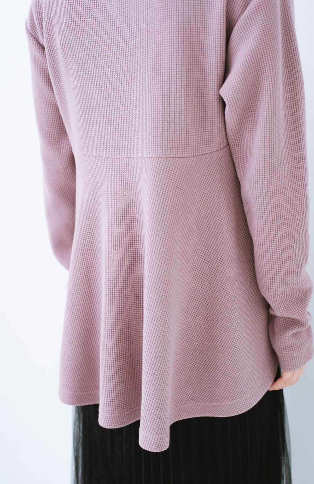 haco! 大人のかわいげをちりばめたフレアーカットソー  <ピンク>の商品写真7