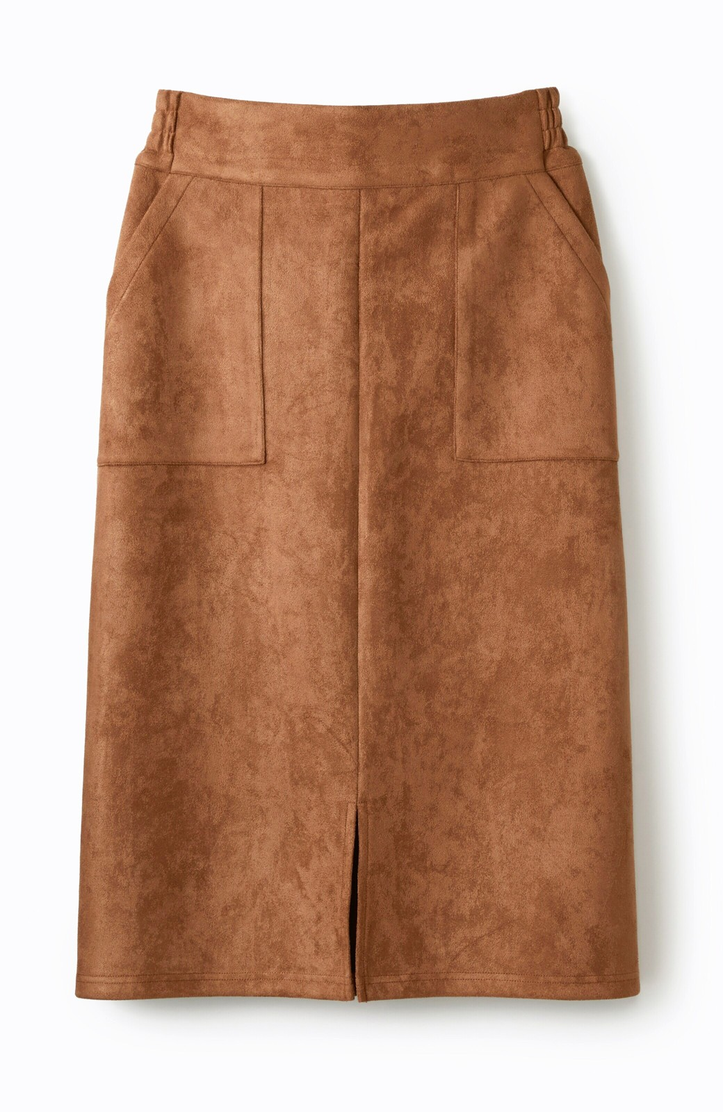 haco! 大人の女っぽ見えを実現させる フェイクスエードスリットスカート <ブラウン>の商品写真2