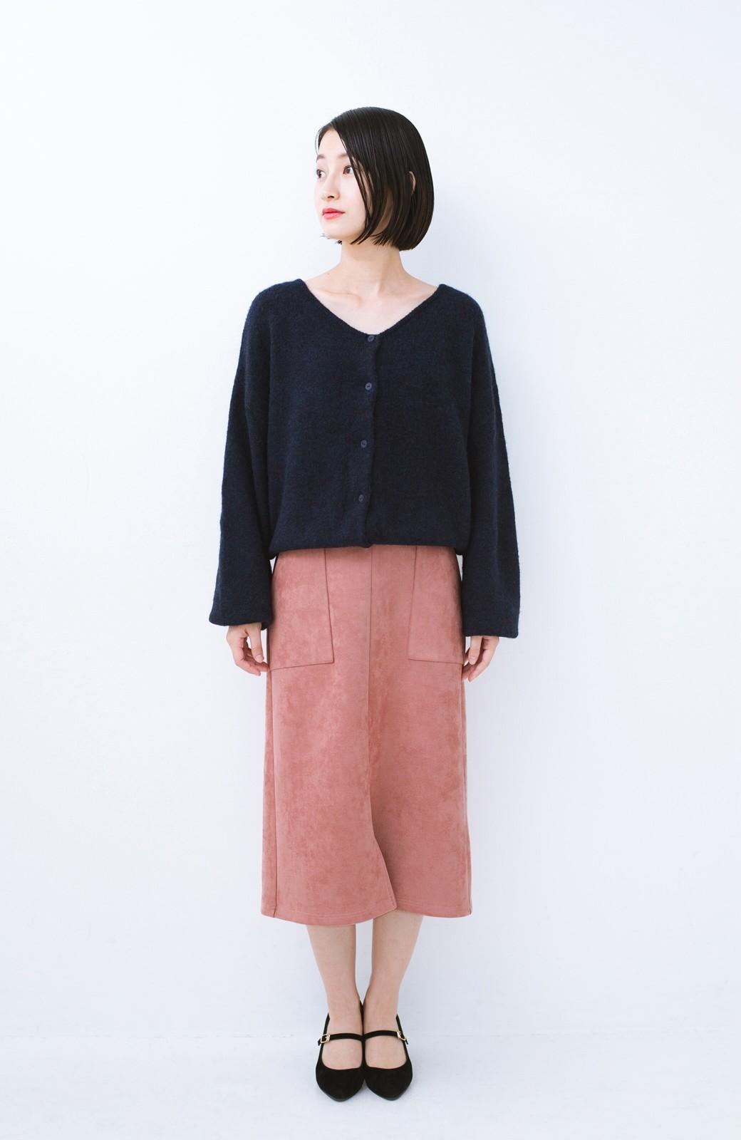 haco! 大人の女っぽ見えを実現させる フェイクスエードスリットスカート <ピンク>の商品写真9