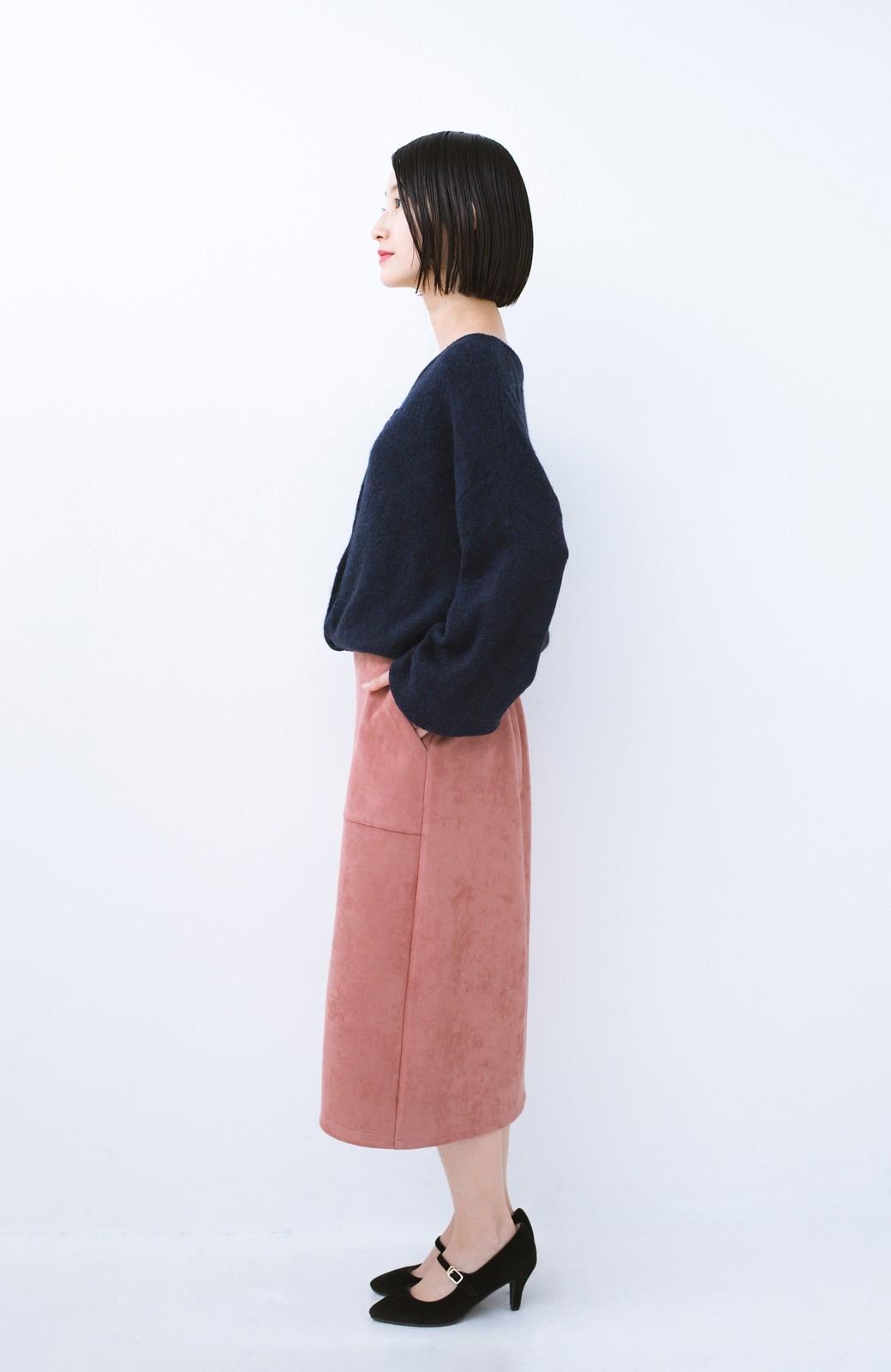 haco! 大人の女っぽ見えを実現させる フェイクスエードスリットスカート <ピンク>の商品写真10