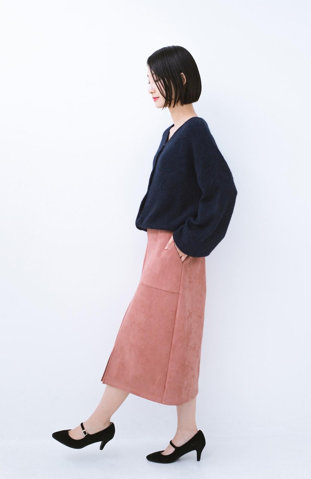 haco! 大人の女っぽ見えを実現させる フェイクスエードスリットスカート <ピンク>の商品写真11
