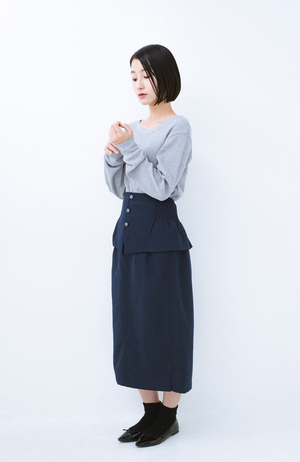 haco!  腹巻きとは呼ばせない ブルー期も華やかに過ごせる消臭加工裏地付きフリルデザインスカートセット【ブルー期】女の子バンザイ!プロジェクト <ネイビー>の商品写真19