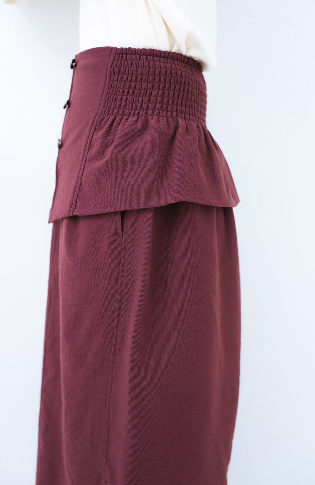 haco!  腹巻きとは呼ばせない ブルー期も華やかに過ごせる消臭加工裏地付きフリルデザインスカートセット【ブルー期】女の子バンザイ!プロジェクト <ボルドー>の商品写真13