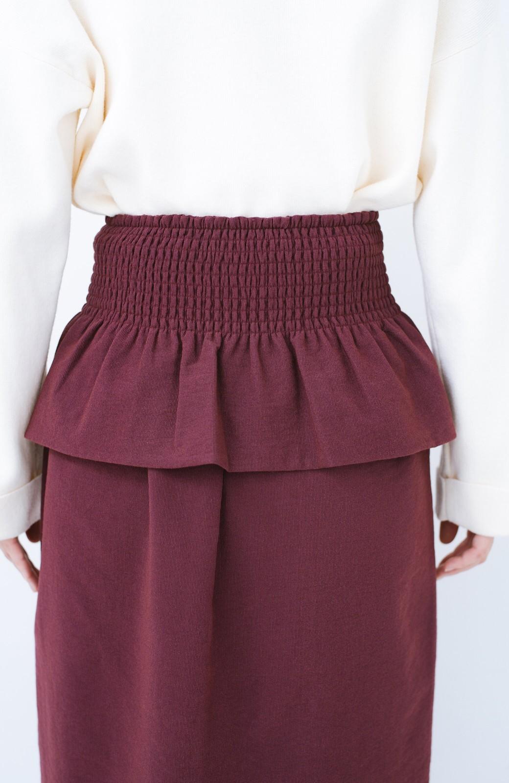 haco!  腹巻きとは呼ばせない ブルー期も華やかに過ごせる消臭加工裏地付きフリルデザインスカートセット【ブルー期】女の子バンザイ!プロジェクト <ボルドー>の商品写真11