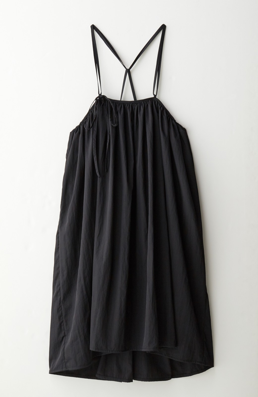 haco! 女の子バンザイ!プロジェクト【ブルー期】 ニットですら重ね着できる安心さ ゆったりギャザーキャミワンピ <ブラック>の商品写真6