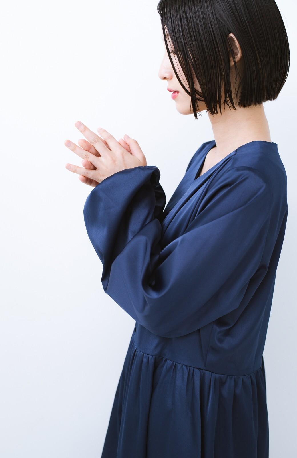 haco! 華やかなウエスト切り替えロングワンピース【キラキラ期】 女の子バンザイ!プロジェクト <ネイビー>の商品写真8