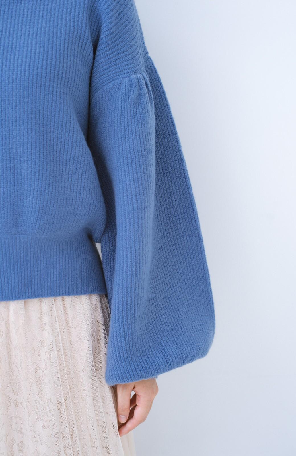 haco!  たまには女っぽ意識のやわらかニットトップス【キラキラ期】女の子バンザイ!プロジェクト <ブルー>の商品写真4